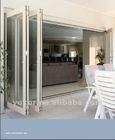 high quality double glazed aluminium bifold bathroom door&panel bifold door&vertical folding door