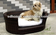 Outdoor rattan pet product dog bed HLKC001
