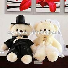 2014 traditional fashion wedding decoration lover bear dolls