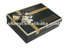 Mountain Black Matte Paper Gift Box with UV Printed Logo