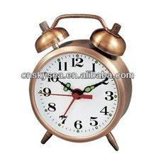 Antique mechanical alarm clock, retro design