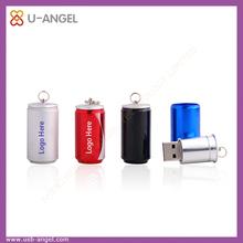 manufacturer selling baishi cola bottle shape usb 2.0,mini can shape usb flash drive