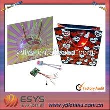 LED flashing paper gift bag for promotion