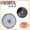 Fashion plastic nylon white button with gold rim