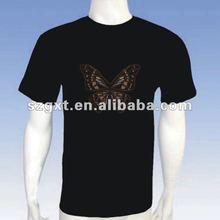 Custom Design and Portable EL flash t-shirts