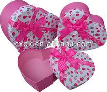2013 hot sale decorative box, colorful dot, heart shape nest box