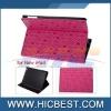 PU Leather cover case for ipad 2 ipad3 ipad4
