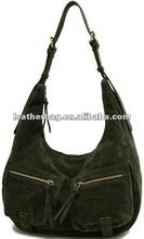 Cool nubuck leather ladies hobo handbag bag
