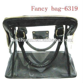 fashion PVC ladies transparent handbag