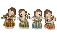 Polyresin Brass Angel Figurine Crafts