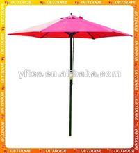 Red Wooden Parasol for Garden