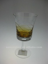 amber color wine glassware