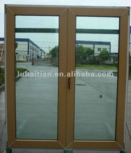 upvc garden door with wooden colored