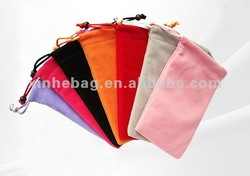 Velvet drawstring bag for iphone