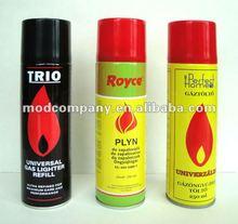 250ml high quality universal butane gas for lighters