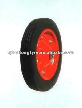 Wheelbarrow Rubber Solid Wheel,Rubber powder wheel (High quality)350-8