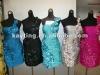 2012 One-shoulder Blue cocktail dress Silver Knee-length evening dress Kayting 10013