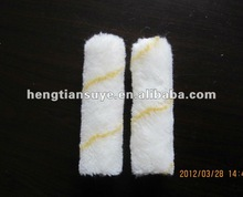 white with yellow strip wall paint roller Brush