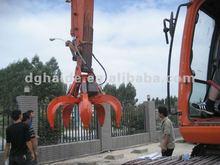 Excavator hydraulic scrap grab