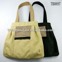 hot sale popular lady handle canvas shoulder bag 2013