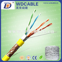 Indoor SFTP Cat5e Lan/Structural Cable Wire Mesh Cable Passing Fluke Test
