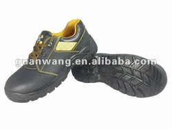 PU injection steel toe cap industrial safety shoes with CE certificate