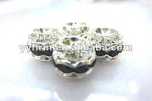 Wholesale alloy rhinestone spacer beads.Discount price jewelry bracelet beads.