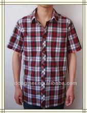 men plaid cotton /spandex shirt 2012 new design