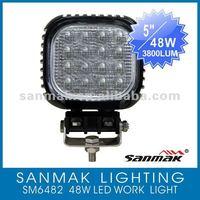 5'' LED Headlight 16x3W Off Road Driving Work Light