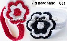 Hand Crochet Newborn Infant Toddler Flower Kid Headband, kids knitted headband