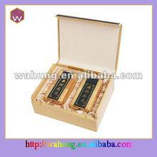 wooden tea box 2 compartments(WH-T1452)