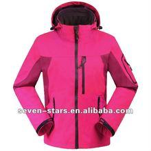 2012 OEM cheap Women's outdoor winter hooded jacket