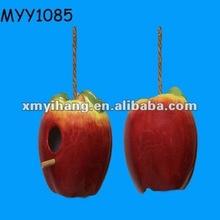 Garden hanging apple shape resin Bird Cage