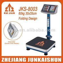 Electronic Platforma Scale 8002C 30x35cm 60kg Folding Design