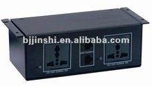 under table socket with different interface for AV solution