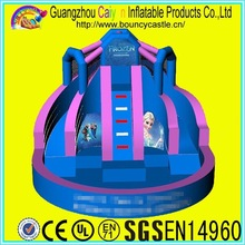 blue inflatable slides wet/dry slide with pool