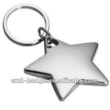 Silver Or Gold Shining Star Key Chain