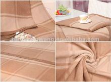 Elegant Plaid Camel Wool Blanket