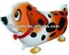 walking pet balloons orange dog