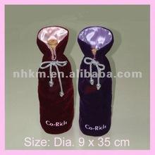 2012 kangmei hot sales velvet wine bottle bag for promotion