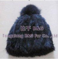 BG6267 Genuine Fox Fur Cap OEM Wholesale Retail Fox Fur Cap