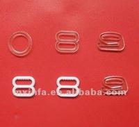 Plastic bra belt adjuster and hook
