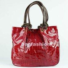 Korea Multi color Crocodile PU Leather Shoulder Bag