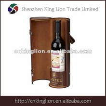 High-quality carboard single bottle wine box round shape