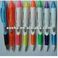 Novo design 4 cores caneta esferográfica com marca texto