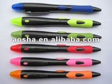 colorful pencil ball pen with highlighter