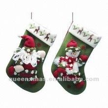 13in.Santa Snowman Christmas Sock