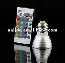 E27 3W RGB Flash LED Light Bulb with Remote Controller, AC 85-265V