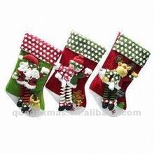 Santa Snowman Reindeer Velvet Christmas Sock
