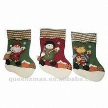Santa Snowman Reindeer Felt Christmas Stocking
